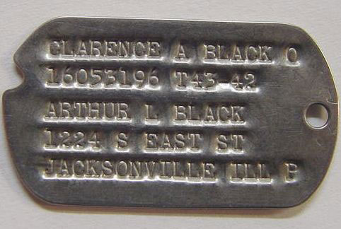 Clarence A. Black DogTag
